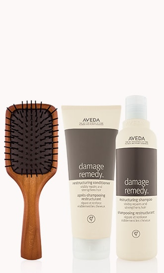 Mini Paddle Brush & Restructuring Shampoo & Conditioner