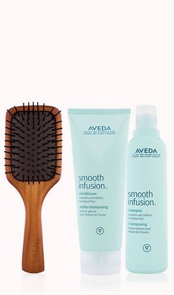 Mini Paddle Brush & Smooth Infusion Shampoo & Conditioner